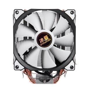 Image 1 - SNOWMAN 4PIN CPU cooler 6 heatpipe Single fan cooling 12cm fan LGA775 1151 115x 1366 support Intel AMD