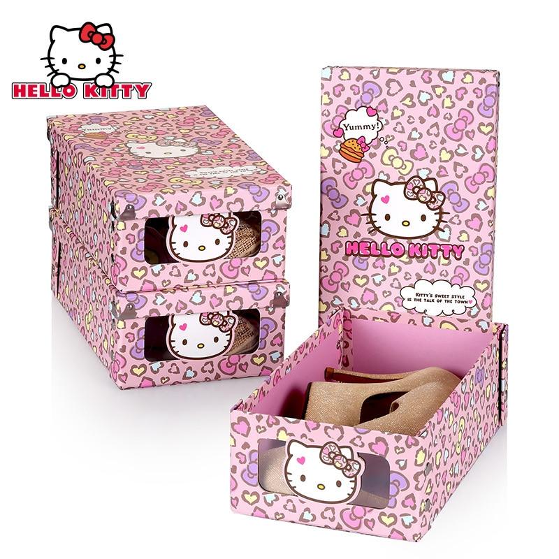 Hello Kitty jouet chaussures de rangement chaussures bottes conteneur cadeau boîtes boîte à bijoux sous-vêtements maison tiroir organisateur disperola Cosas Kawaii