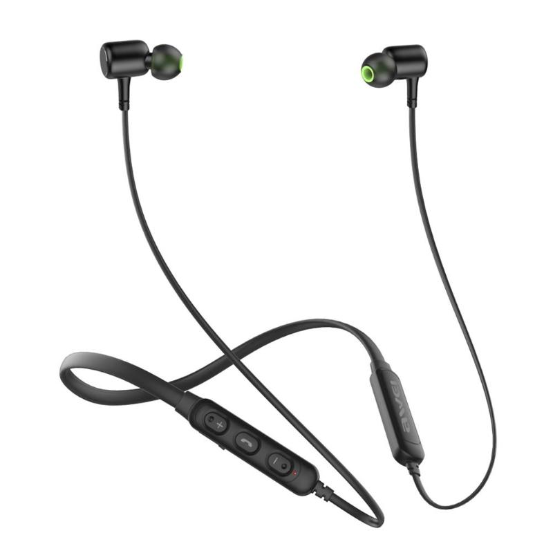 <font><b>Awei</b></font> <font><b>G30BL</b></font> Wireless Bluetooth Headphones Stereo Magnetic Neckband Earphones Support Mobile Phone Power Display image