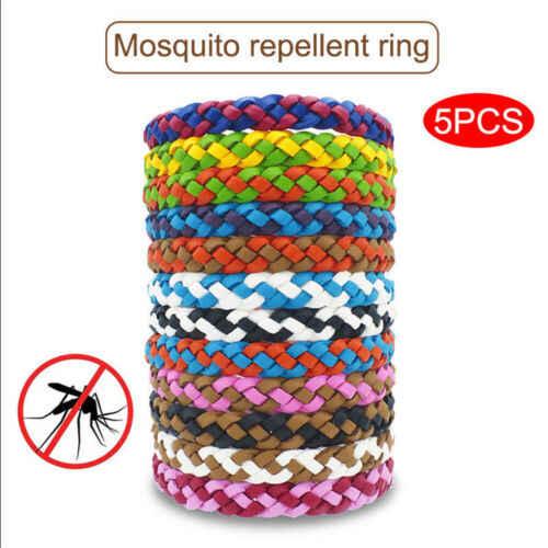 Новый анти-средство от насекомых, комаров браслет натуральная кожа ткань для запястья