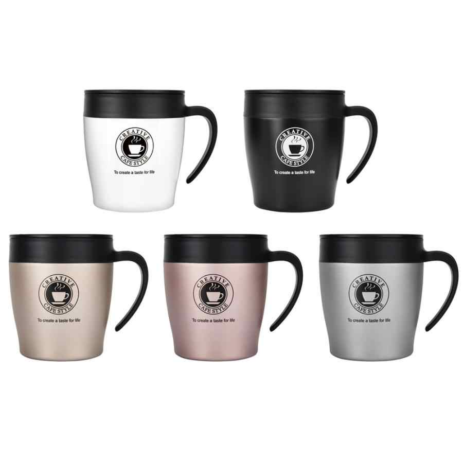 High Quality Insulated Coffee Mug Espresso Cups with Spoon and Lid Office Travel Mug Vacuum thermal Tea Milk Coffee Cup