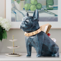 Ящик для хранения для домашнего декора, Офисные инструменты для мобильного телефона, органайзер для управления, статуя собаки из смолы, ста...
