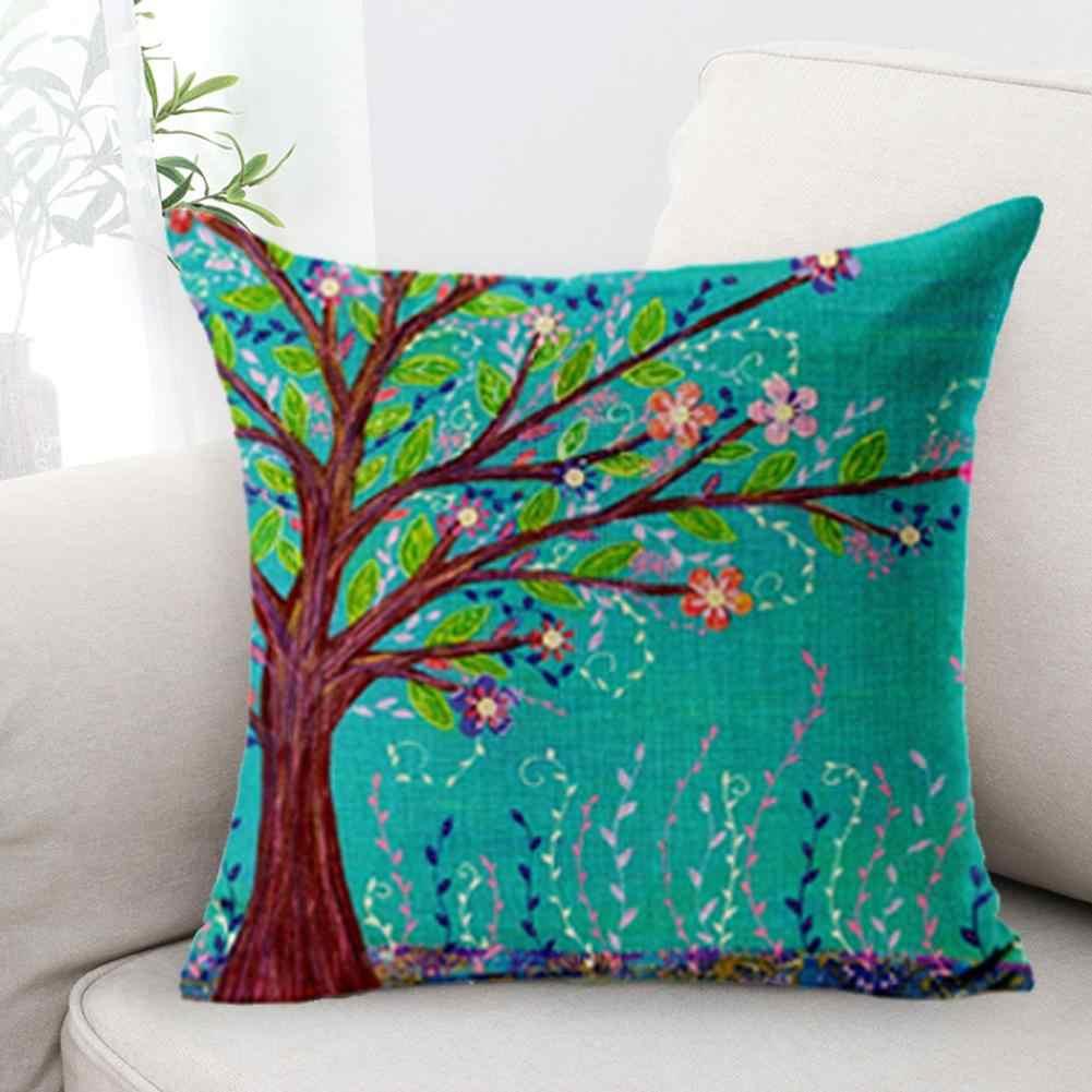 Ropa de cama de algodón almohada de artista flor tela decorativa fundas de almohada caso overwatch boku no hero academia
