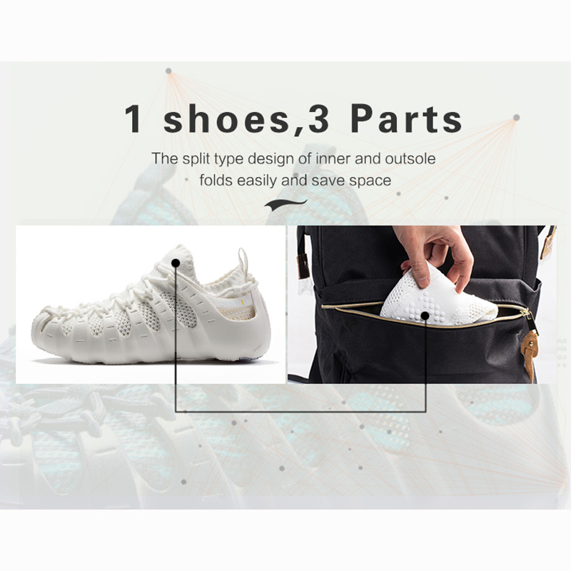 ONEMIX 2019 verano nuevos hombres mujeres Roma zapatos casuales sandalias transpirables calzado para caminar zapatillas ligero de secado rápido interior Yoga calcetín - 5
