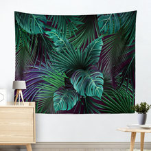 Nordic Wall Hanging Tapestry Nature Tropical Green Leaves Bohemia Home Decor Cloth Tapestries Landscape Throw Beach Blanket