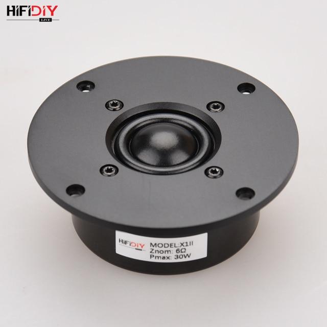 HIFIDIY LIVE Q1S 4.5 بوصة 4.7 مكبر الصوت وحدة الألومنيوم لوحة أسود الحرير غشاء 6 OHM30W ثلاثة أضعاف مكبر الصوت 110/116/120 مللي متر