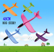 Funny Toy EPP Foam Throwing Flying Airplane Aircraft Hand Launch Free Fly Plane Throw Puzzle Model Toys for Kids