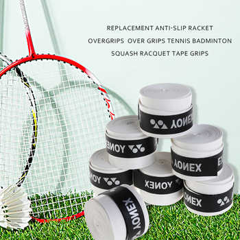 60Pcs Replacement Anti-slip Racket Overgrip Sport Sweatband Badminton Grip Tennis Racket Squash Racquet Tape Grips Accessories
