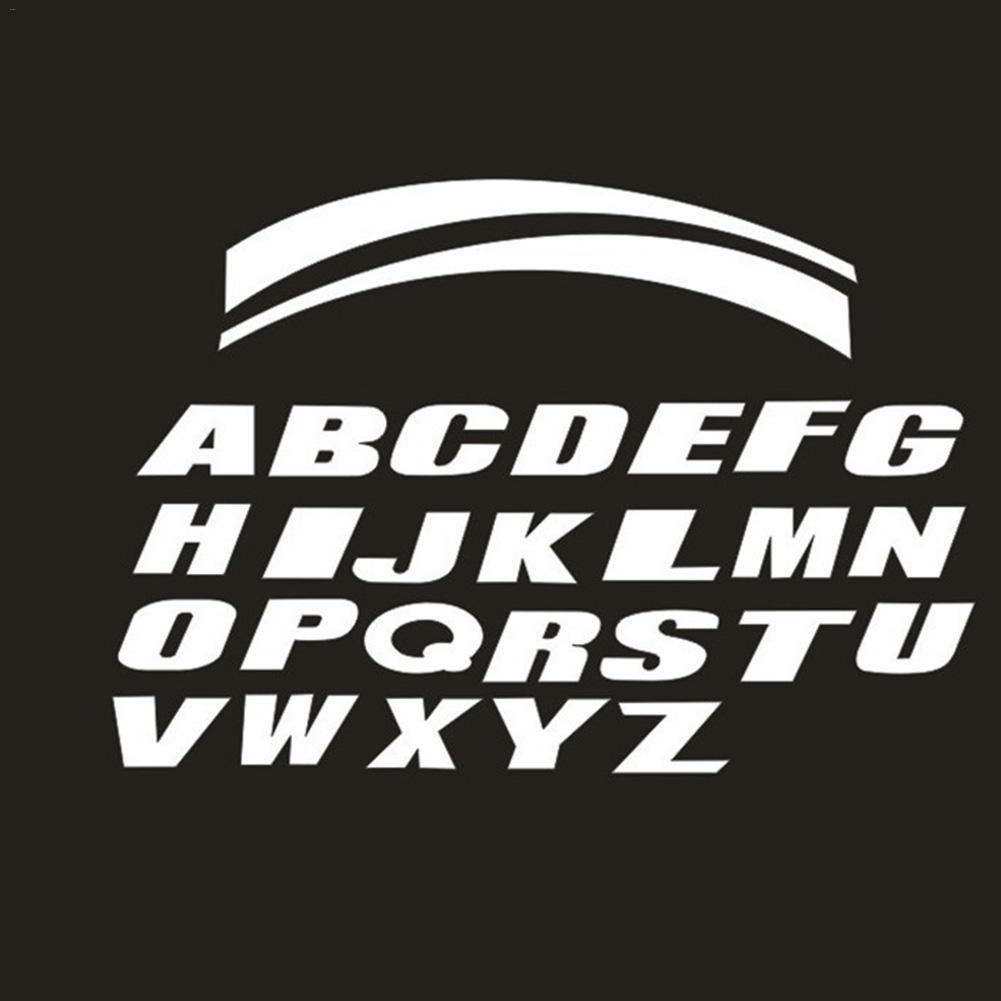 Car Universal Personality Sticker Wheel Sticker Motorcycle Bike Wheel Tire 3D Sticker English Letters Sticker Fashion Decoration