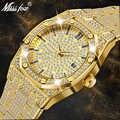 MISSFOX часы женские часы люксовый бренд 2019 18 K золотые часы модные Календарь женские часы с бриллиантами Женские кварцевые наручные часы