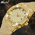 MISSFOX Horloge Vrouwen Horloges Luxe Merk 2019 18 K Gouden Horloge Mode Kalender Dame Diamanten Horloge Vrouwelijke Quartz Horloges Uur