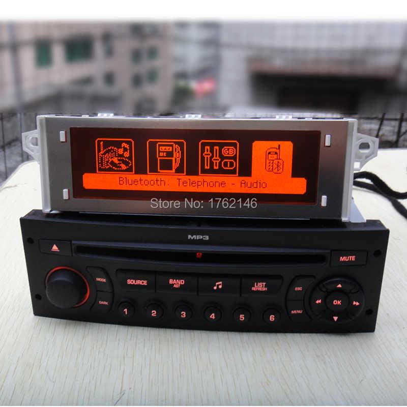 Pantalla Original de fábrica compatible con USB + pantalla Bluetooth monitor rojo con reproductor de cd para Peugeot 307 207 408 para citroen C4/C5