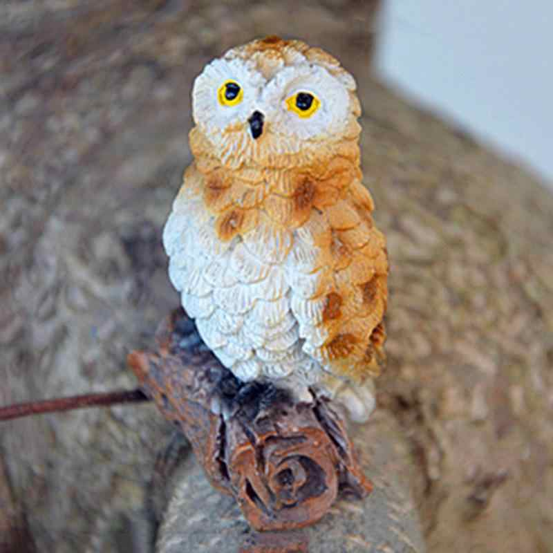 6-Style Mini Artificial Animal Owl Miniature Fairy Garden Home House Decoration DIY Craft Micro Landscaping Decor Accessories