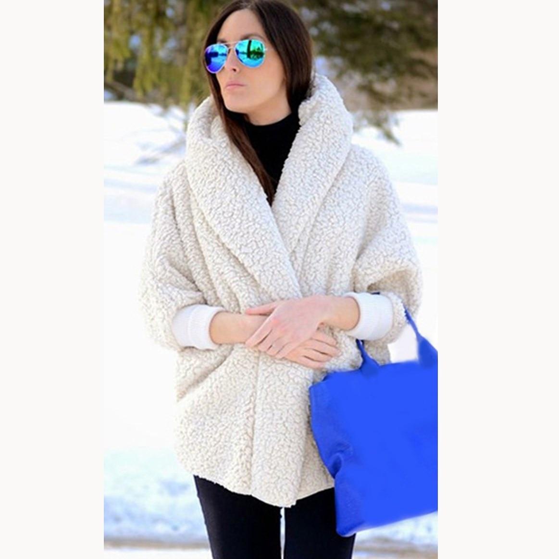 Winter Fashion Women Teddy Coat Oversize Warm Thick Hooded Coat Female Long Sleeve Faux Fur Coat Outerwear in Faux Fur from Women 39 s Clothing
