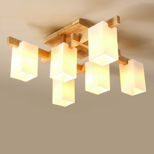 Janpan Wooden Glass LED Ceiling Lights Living Room Ceiling Lamps Luminaire Bedroom Decor Light Fixtures Home Lighting Fixtures цена 2017