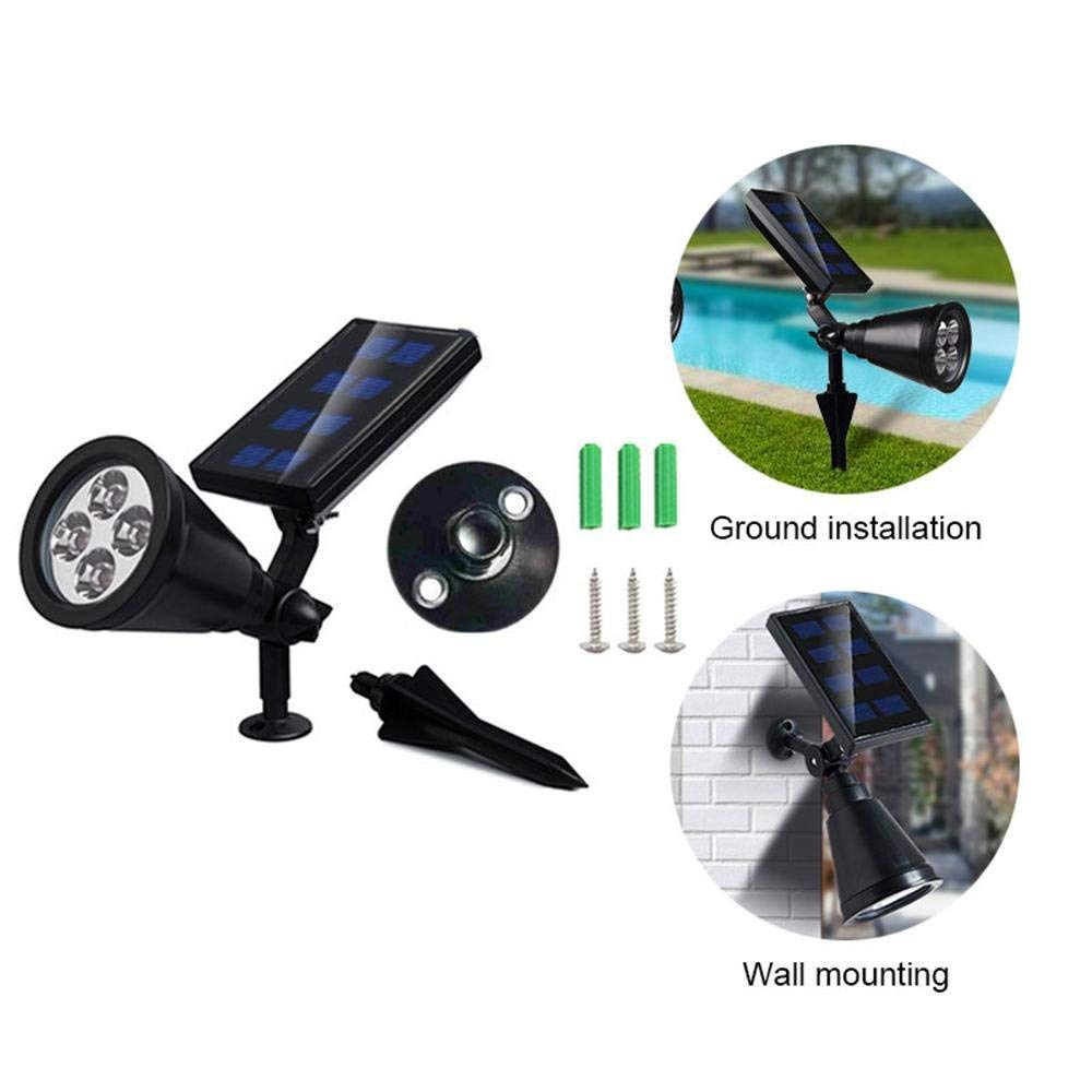 Image 4 - New upgrade Solar Garden Spotlight Ground Landscape Lights Adjustable Waterproof Outdoor Security Light Auto On/Off spotlight-in Solar Lamps from Lights & Lighting