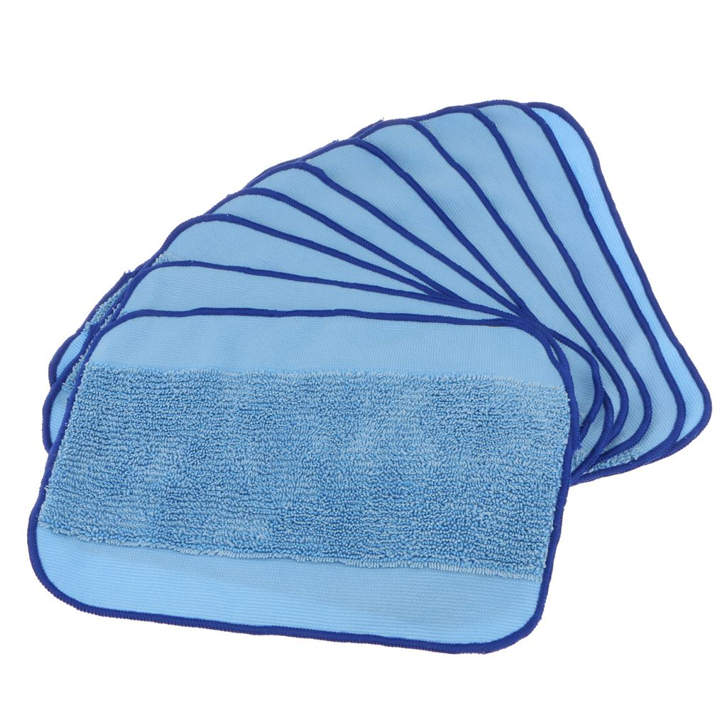 10 pcs Microfiber Mop Pad Vacuums Wet Mopping Cloth Rag for Robot Floor Sweeper 308t38032132042005200C52004205