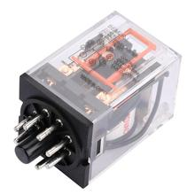 MK2P-I AC 220V General-purpose Electromagnetic Electric Relay 8 Pins 10A H
