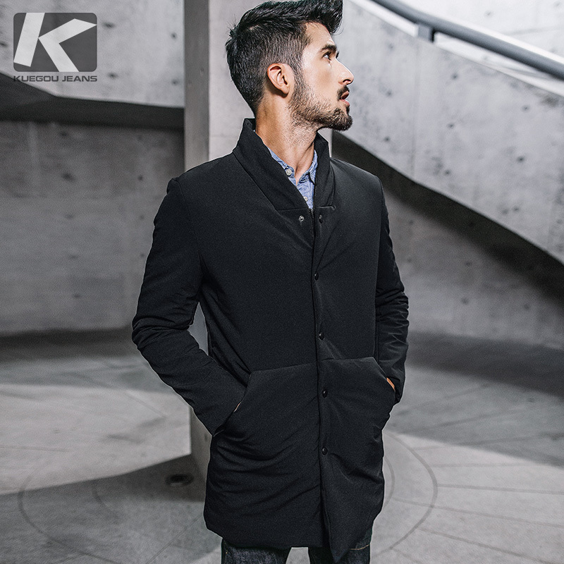Holyrising Trench Coat Men Casual Masculino Overcoat Slim Long Greatcoat Single Button Windbreak Comfortable Size S