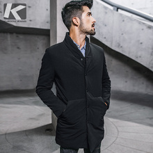 سترة رجالي شتوية بغطاء للرأس لون أسود سميك لعام 2020 ملابس رجالية جديدة ضيقة ملابس دافئة ملابس ماركة ملابس رجالي معاطف مقاس كبير 0281