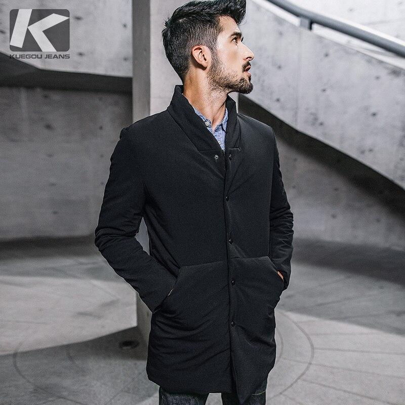 Hiver Hommes Parkas À Capuchon Épais Noir Couleur Pour 2018 Nouveau Homme Slim Fit Vêtements Chauds Marque Vêtements Mâle Porter Manteaux plus la Taille 0281