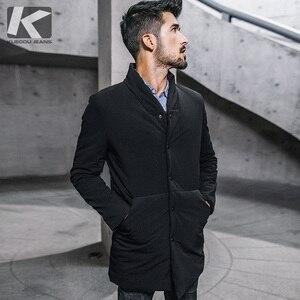 Image 1 - Inverno dos homens parkas com capuz grosso cor preta para 2020 novo homem magro ajuste roupas quentes marca masculino wear casacos mais tamanho 0281