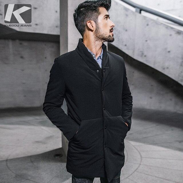Inverno dos homens parkas com capuz grosso cor preta para 2020 novo homem magro ajuste roupas quentes marca masculino wear casacos mais tamanho 0281