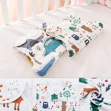 Vest-Style Gauze Baby Sleeping Bag Child Baby Child Anti-Kicking Artifact Spring And Autumn Summer cotton  thin section For Kids