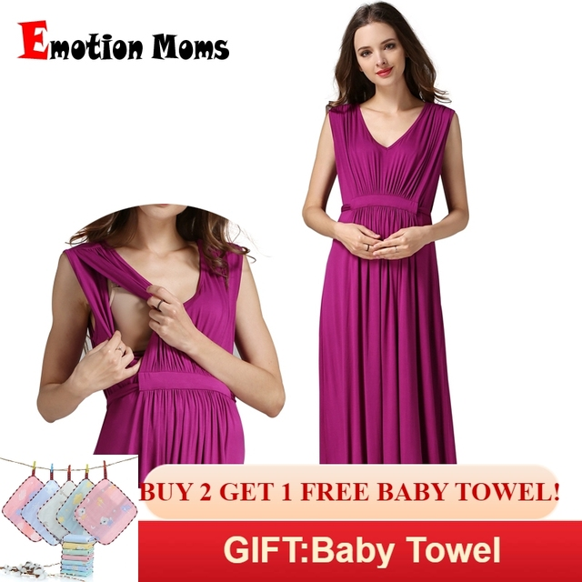 a863d311e242f Emotion Moms Maternity Clothes pregnant Nursing Dress pregnancy clothes for Pregnant  Women Long Maternity Dresses Europe size