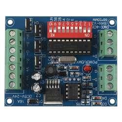 DMX512 декодер 4CH канала 16A RGBW контроллер CMOS Выход