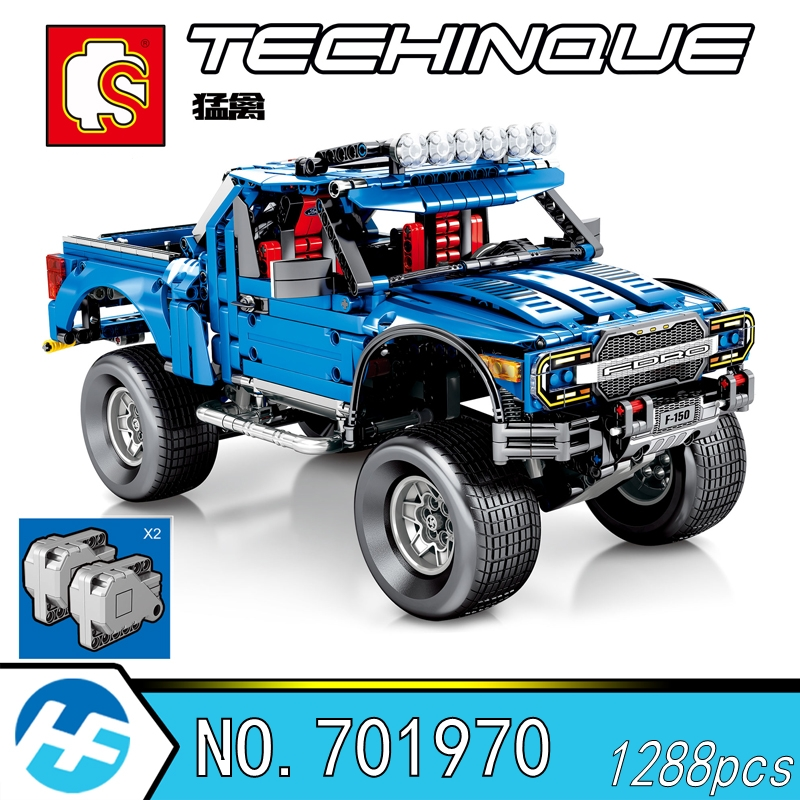 Ford F-150 Raptor pick-up modèle jouet cadeau blocs de construction briques compatibles legoins Technic series Sembo 701970
