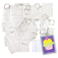 100 шт. прозрачные держатели ключей с пространством для фотографий или изображений мм 90*40 мм брелок для ключей фото