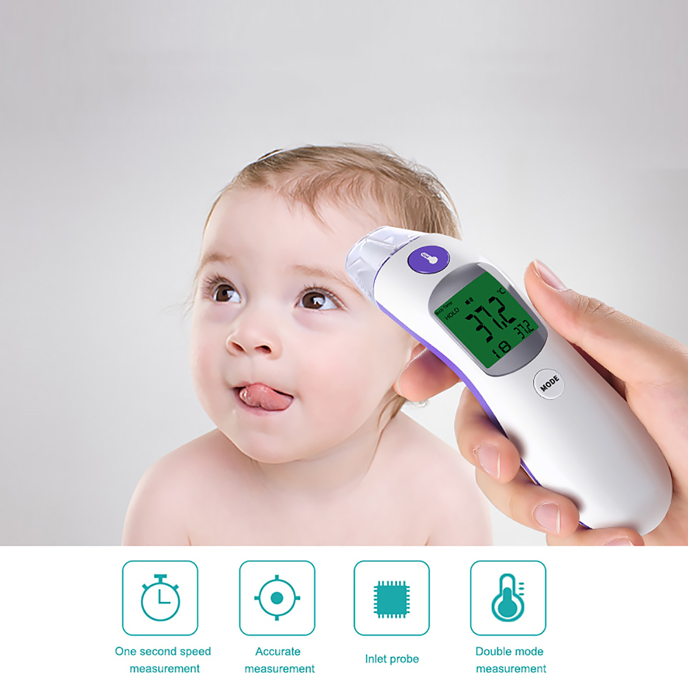 Digital Forehead Thermometer Dual Baby /& Adult Infrared Non-contact Thermometer