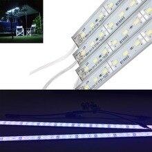 4x12 v 50 см светодиодный Водонепроницаемый полосатый свет для бара Кемпинг Caravan Автомобильный Лодка фургон зажимы 5630