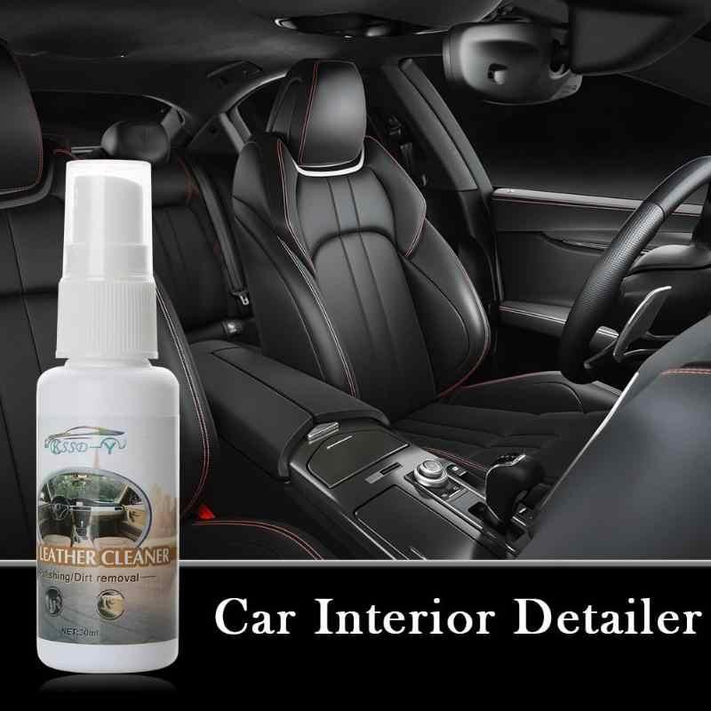 30 mL Auto-interieur Detailer Lederen Oppervlak Seat Polish Wax Innerlijke Dashboard Cleaner Handhaven Wassen Care Tool Vernieuwing Vloeibare
