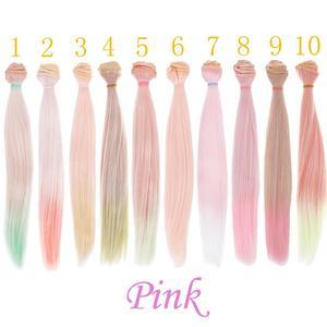 Image 5 - 1 pçs 25*100cm em linha reta de alta temperatura boneca perucas diy cabelo para sd para bjd 1/3 1/4 1/6 para bonecas acessórios