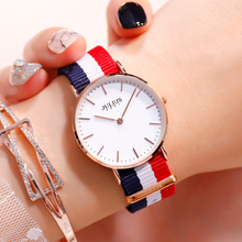 Julius women's watch light ladies watch canvas strap watch female students Korean version of the simple waterproof quartz watch wu s new ladies watch waterproof fashion watch female students version of the simple casual trend quartz watch 2018