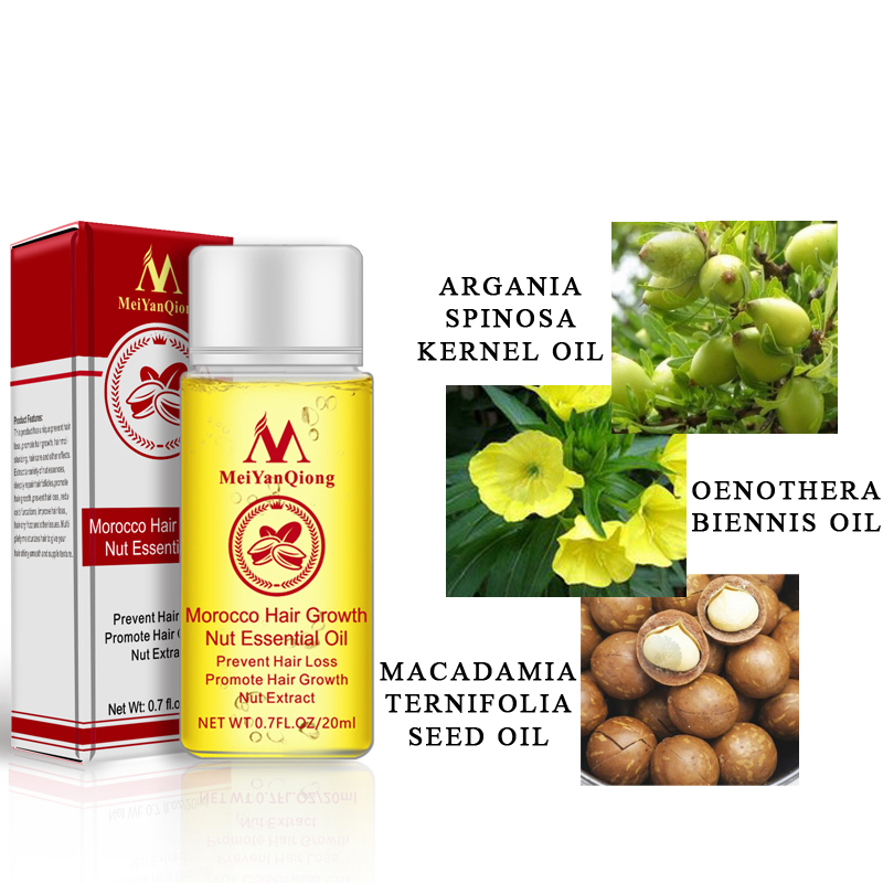 Hair Moisturizing Moroccan Argan Oil Pure Macadamia Nut Hair Care Oil 20ml
