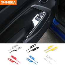 SHINEKA ABS 6 צבעים חלון מעלית מתגי פנל דקורטיבי כיסוי עבור שברולט קמארו 2017 +