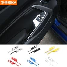 Shineka abs 6 色ウィンドウリフトスイッチパネル装飾カバーシボレーカマロ 2017 +