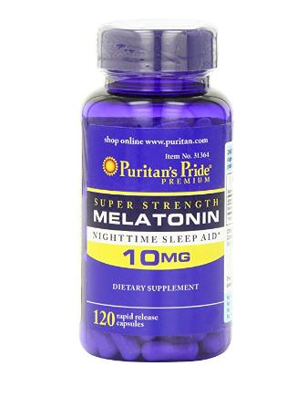 Melatonin 10 mg 120 grains improve sleep quality and prolong sleep time X 2PCS