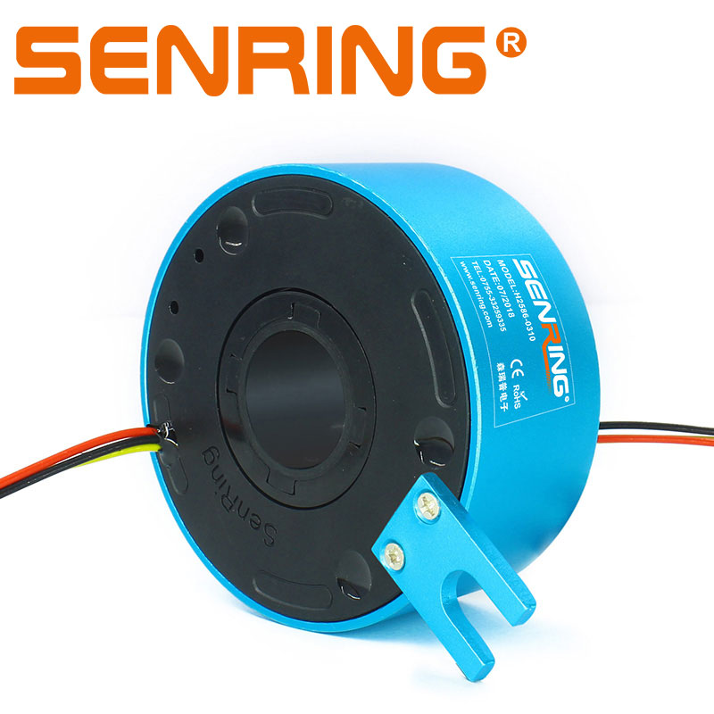 25.4mm Hole Dia Slip Ring of 12 Wires Transmitting 10A Per Wire for Electrical Equipment