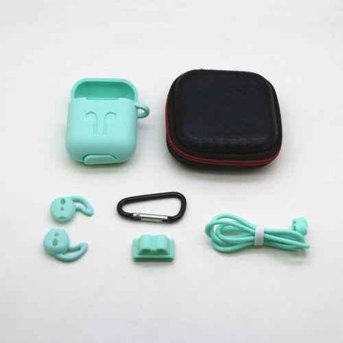 7 unids/set para Airpods auriculares inalámbricos de silicona para funda protectora para Airpods Skin Accessories Kits para i10 i11 i13