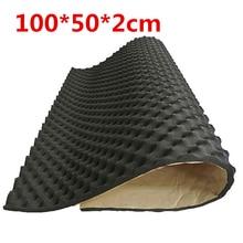 100*50*2CM Car Sound Deadening Noise Insulation Mat Acoustic Dampening Foam Subwoofer Boot Cover Wheel Arch Deadener