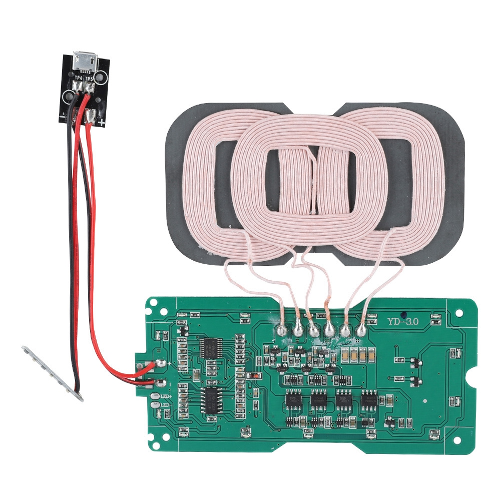 US $7 36 37% OFF DIY QI Standard Wireless Charger 3 Coil Wireless Charging  Transmitter Module Circuit Board Coil Charger for iPhone / Samsung-in