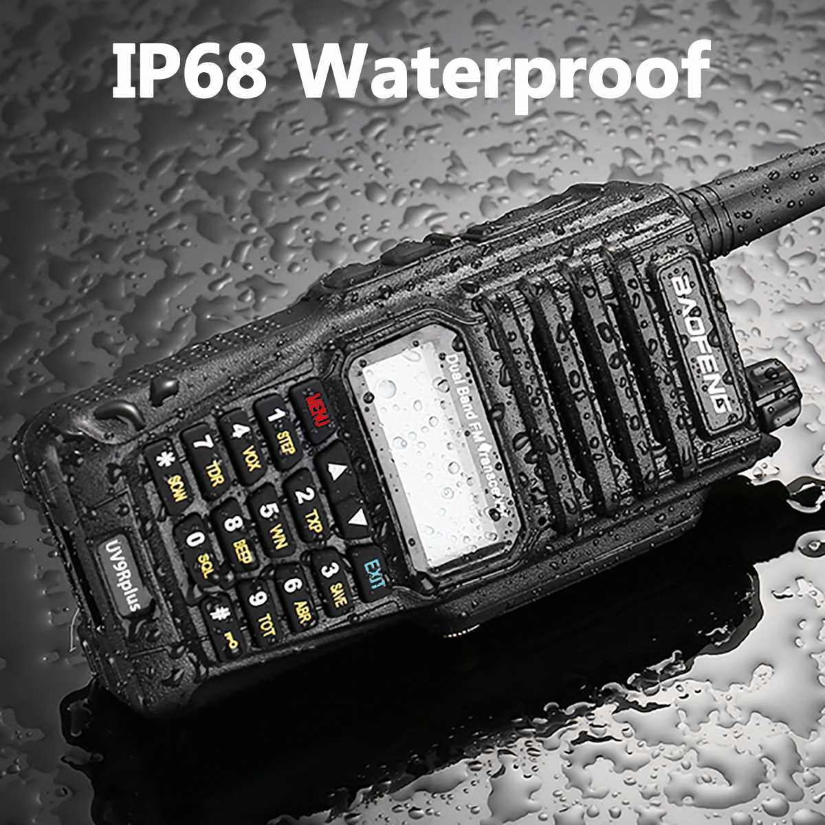 2 pièces 4800 mah 10 W Baofeng UV-9R plus étanche talkie-walkie pour CB ham radio station 10 km radio bidirectionnelle uhf vhf mobile plus 9r