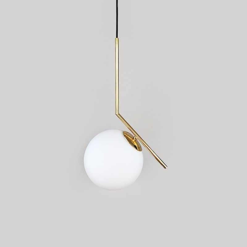 Современная стеклянная подвесная люстра в форме шара для столовой, дома, кухни, светильники, Подвесная лампа бар ресторан, декор, светильник, блеск