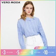 89df5a32fc886a8 Vero Moda 2019 Весна Новый нерегулярный полосатый узор Повседневная рубашка  | 318205523(China)