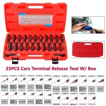 23Pcs Car Electrical Wire Terminal Crimp Connector Pin Remover Release Tool Kit