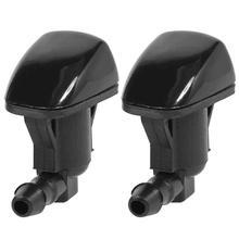 1 пара омывателя сопла лобового стекла передний стеклоочиститель спрей 68260443AA для Jeep Grand Cherokee 2011- черный пластик
